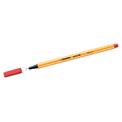 PENNA STABILO POINT 88 NEON ROSSO 040